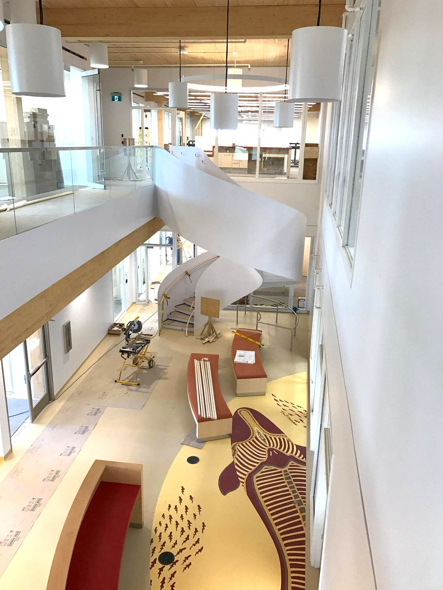 If you live in Cambridge Bay, you haven't even seen the inside of the new science building of the Canadian High Arctic Research Station because it's not open to visitors, but a photo posted on Twitter Oct. 29 shows the building's