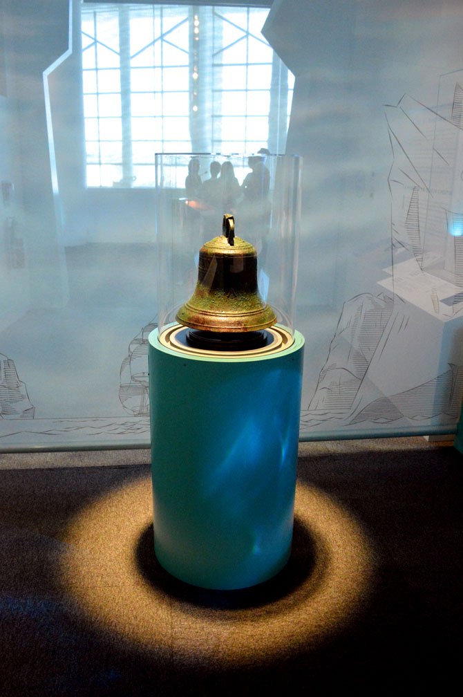 The ship's bell from the HMS Erebus. (PHOTO BY STEVE DUCHARME)