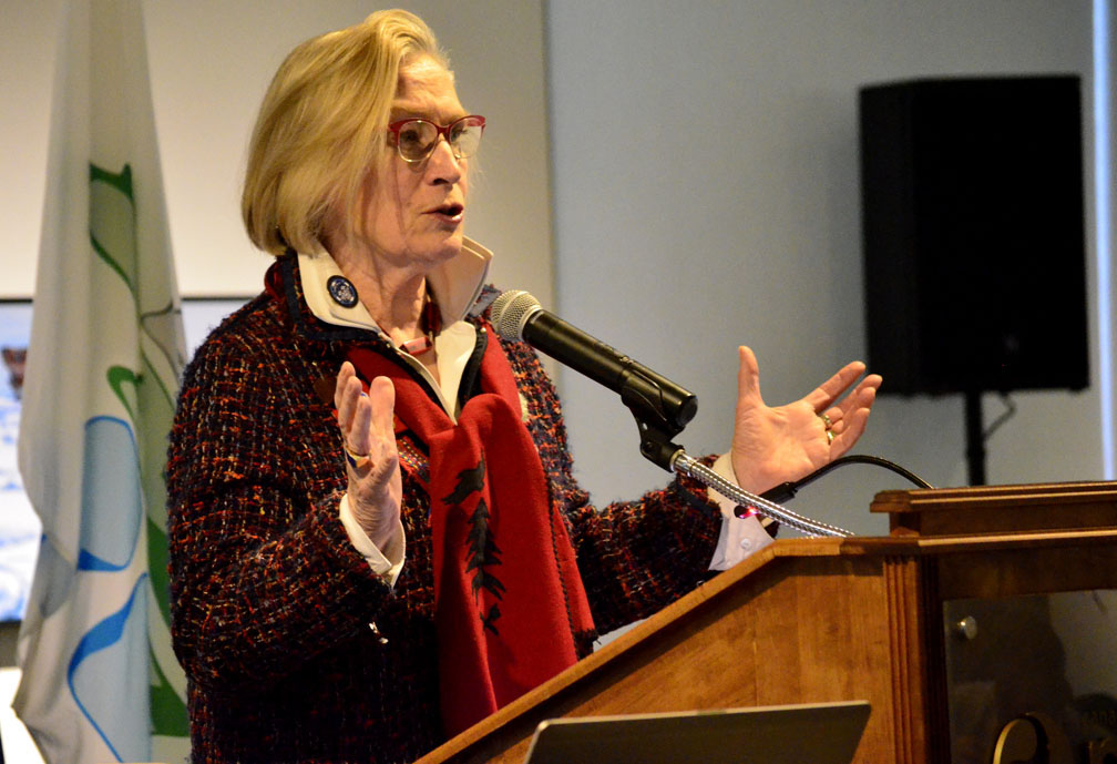 Carolyn Bennett, the minister of Crown-Indigenous relations, speaks March 22 at the launch of the National Inuit Strategy on Research. Bennett did state any specific commitments but she praised ITK for producing the strategy, and said science will play a big role in the new Arctic policy her government is working on.