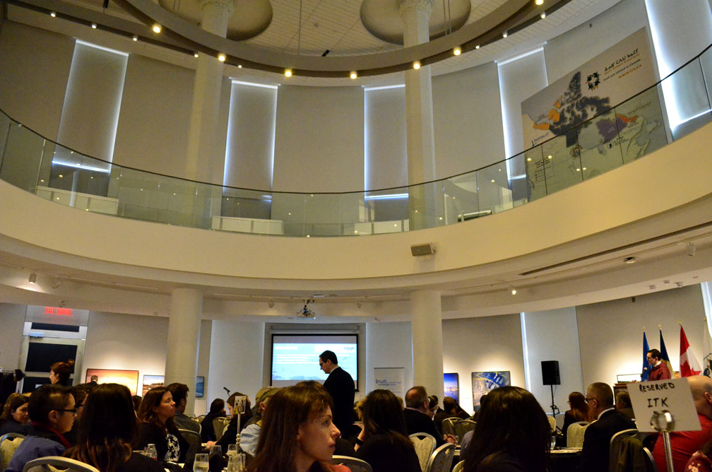 A large audience, made up of scientists, research institution executives and Inuit living in Ottawa gathered at the Canadian Museum of Nature in Ottawa last week for the launch of the National Inuit Strategy on Research. (PHOTO BY JIM BELL)