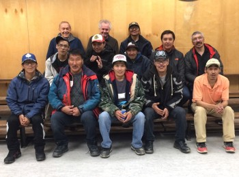 The Department of Family Services is seeking proposals for Nunavut men and boys' projects. Pictured here are members of the Cape Dorset men's support group Angutiit Makigiangninga. (PHOTO BY NOEL KALUDJAK)