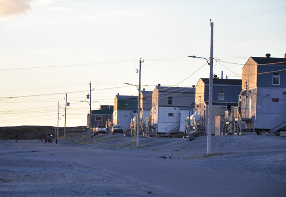A new study of public housing in Nunavut and Nunavik shows that, along with living in a better place, the presence of children seems to provide protection against psychological stress. (FILE PHOTO)