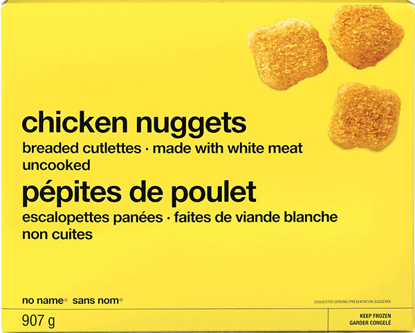"This is just one of the frozen-chicken brands that were recalled earlier this year. ""Most frozen breaded chicken products available for sale in grocery stores in Canada contain raw chicken that can cause salmonella illness and therefore pose an increased health risk to Canadians who handle, prepare or consume them,"" the Council of Chief Medical Officers of Health said in a statement last week. (FOOD INSPECTION AGENCY OF CANADA)"