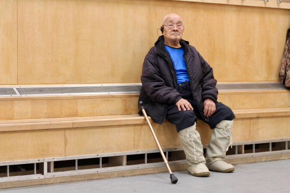 Gamailie Kilukishak, 85, wants law enforcement and mental health workers to speak with elders about community members who are at risk. (PHOTO BY BETH BROWN)
