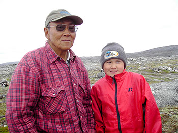 "Lucassie Napaaluk and his grandson Peter of Kangiqsujuaq star in a short award-winning documentary film called ""Papikatuk."" (PHOTO COURTESY OF G. HEMMINGS)"