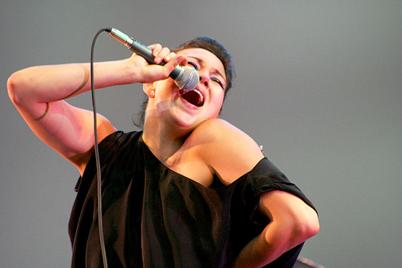 Nunavut's most famous throat-singer, Tanya Tagaq of Cambridge Bay, performed two free shows in New York City last week. The first, held Aug. 19, at Lincoln Center Out-of-Doors. The second was held Aug. 20, in the Dyker Pavilion, at the Smithsonian Institute's National Museum of the American Indian. Both days were hot and humid and Tagaq, 34, joked with the crowd that she has experienced temperatures as low as -88 degrees Celsius, which she prefers.