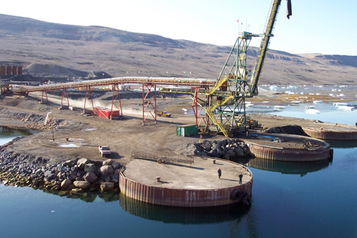 The port at Nanisivik is seen in this 2005 file photo. The Canadian Forces announced Thursday they've awarded a design contract for a naval fuelling station that could be in operation by 2014.