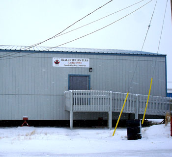The Ikaluktuktutiak Elks Club, which sells beer for $7 each, enforces strict rules on its premises and hands over thousands of dollars a year to local organizations.