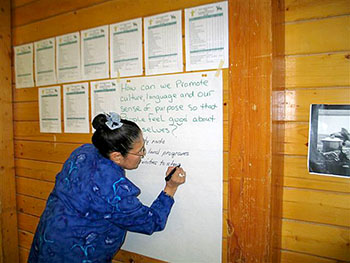More than 80 people met in Cambridge Bay Nov. 24 to discuss the state of their community's wellness and come up with ways to improve conditions. (PHOTO COURTESY OF S. EHALOAK)
