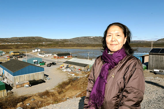 Kitty Annanack, mayor of Kangiqsualujjuaq, wants the Northwest Territories government to acknowledge the impact that the closing of Killiniq had on the housing shortage in her town. (PHOTO BY PASCAL POULIN)
