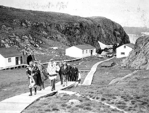 Visit of the Hudson Bay governor to Port Burwell, 1934,  (COLLECTION OF CORPORAL C.K. MCLEAN, COURTESY OF AVATAQ CULTURAL INSTITUTE)