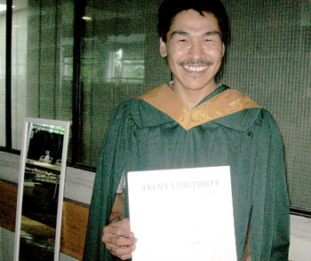 "Robby Qammaniq of Arctic Bay said he was ""shocked"" when he discovered the amount of work, especially reading, that university requires. (PHOTO COURTESY OF ROBBY QAMMANIQ)"