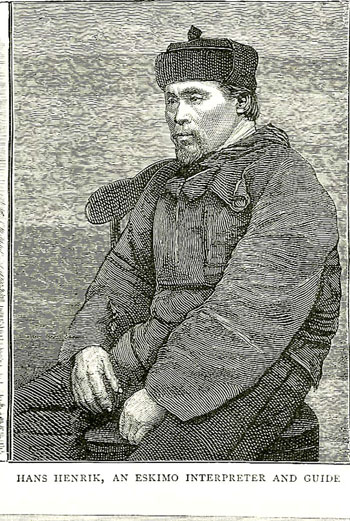 Hans Hendrik of Greenland, a famous Inuit guide celebrated for helping to save the lives of those who survived the ill-fated Polaris expedition.