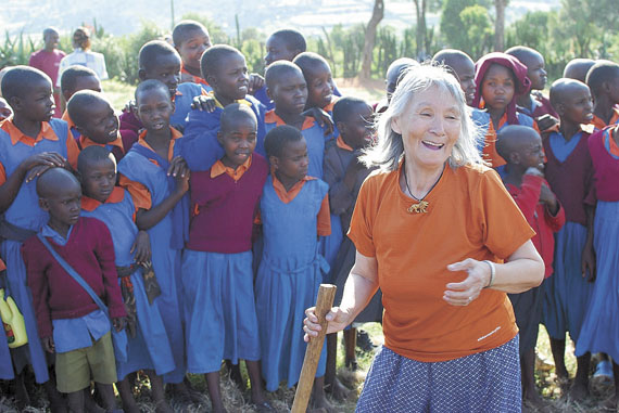 Elder Lucy Anautak of Akulivik was never short of energy during her recent visit to East Africa this past June, when she and group of students and teachers from Tukisiniarvik School in Akulivik visited Kenya. (PHOTO BY ADAM FEATHER)