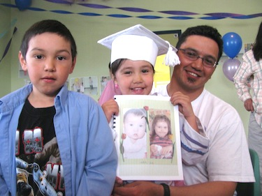Here is Tommy Palliser of Inukjuak in happier days—shown with his son and daughter during the celebration of her child care centre graduation earlier this year. Palliser plead guilty to criminal negligence causing death on Aug. 30 in Inukjuak. (PHOTO HARVESTED FROM FACEBOOK)