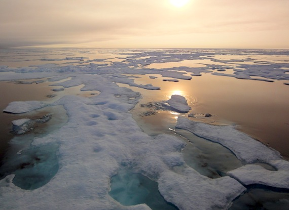 "This year's retreat of sea in the Arctic Ocean offers further evidence of the ""overall downward trend,"
