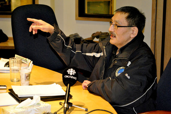 Bob Aknavigak, the chair of the Nunavut Economic forum, said Inuit impact and benefit agreements are designed by regional Inuit associations  to provide mining-related benefits primarily to people living in the same regions as the mines. (PHOTO BY JIM BELL)