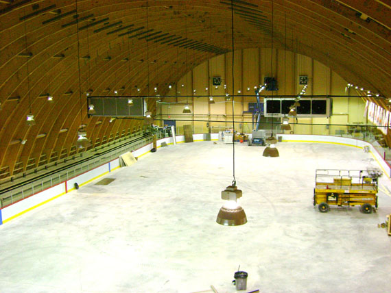 Eco-ice has been installed in arenas in 10 of the 14 communities in Nunavik, including Sikulik arena in Inukjuak. (PHOTO COURTESY OF BEAUDIN LEPROHON)