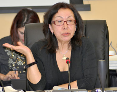 "Nunavik negotiator Minnie Grey says the region ""has missed a great opportunity,"" in response to the rejection of the Nunavik Regional Government April 27. (PHOTO BY SARAH ROGERS)"