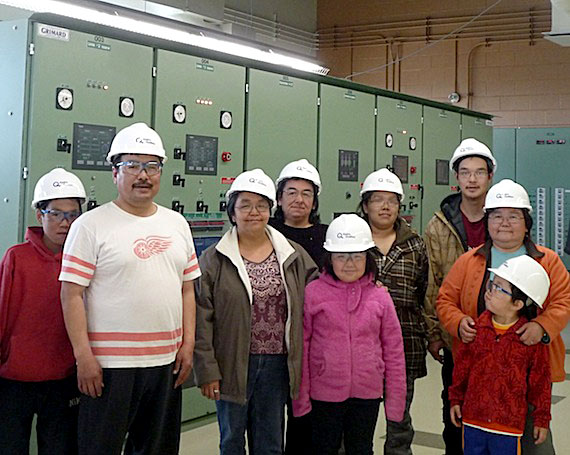 "A group of Kuujjuammiut visit their town's new power plant May 28. Hydro Quebec invited residents to visit the town's new power plant on May 26, 27 and 28, drawing more than 100 visitors and 10 school groups to the facility during the three-day open house. ""This outing helped develop an interest in science and stimulate students' intellectual curiosity,"" said Susie Koneak, principal of Kuujjuaq's Pitakallak elementary school. Construction of plant, which opened in early 2011, began in 2007."