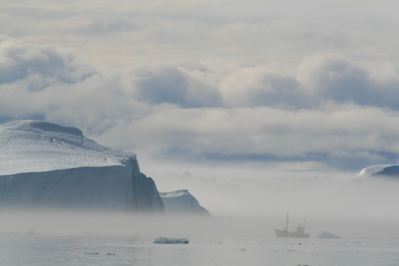 The Ilulissat Icefjord at Disko Bay in 2007. That's the starting point of a journey that will take a research team along the migratory path of the narwhal, starting in early June. (PHOTO COURTESY OF OCEANS NORTH CANADA)