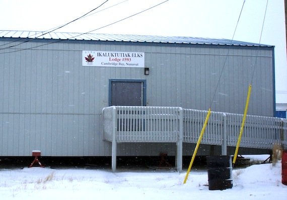 The Ikaluktutiak Elks Lodge 593 has applied for a liquor license at its clubhouse on 2 Kopannoak St. in Cambridge Bay (PHOTO BY JANE GEORGE)
