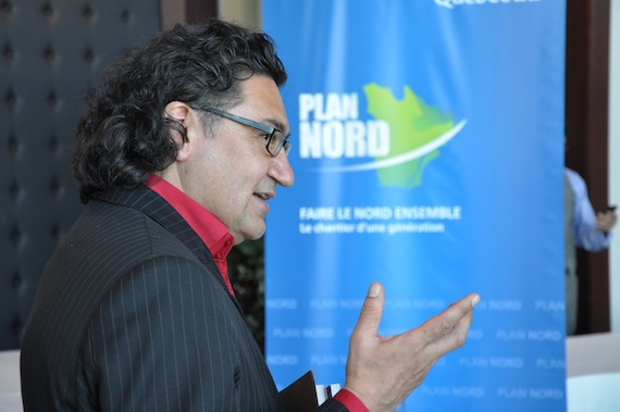Nunavik's MP Romeo Saganash, shown here at the launch of Quebec's Plan Nord earlier this month, has been named natural resources critic by NDP party leader Jack Layton. (PHOTO BY DAVID BENOIT)