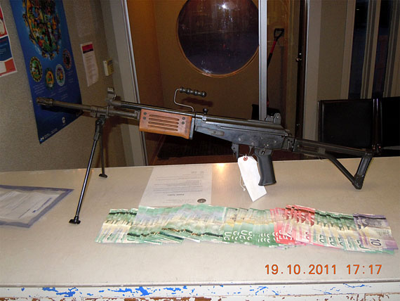 Here's a look at the stolen Israeli assault rifle seized by the RCMP Oct. 19 in Pangnirtung. (PHOTO COURTESY OF THE RCMP)