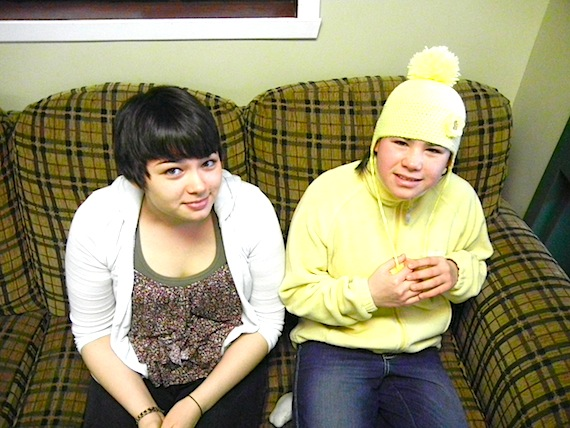 Hannah Tooktoo and Christina Savard, students at Kuujjuaq's Jaanimmarik School, plan to spend next week in Montreal attending suicide prevention workshops and sessions at the Dialogue for Life conference of the First Nations and Inuit Suicide Prevention Association of  Quebec and Labrador. Read more about how why these teenaged girls want to learn how to inspire their friends and family on Nunatsiaqonline.ca. (PHOTO BY JANE GEORGE)