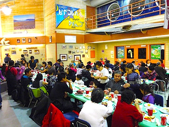 Clyde River's Ilisaqsivik Society held its annual Christmas party for staff, board members and their families Dec. 15 in the local school. (PHOTO BY SHARI GEARHEARD, COURTESY OF ILISAQSIVIK)