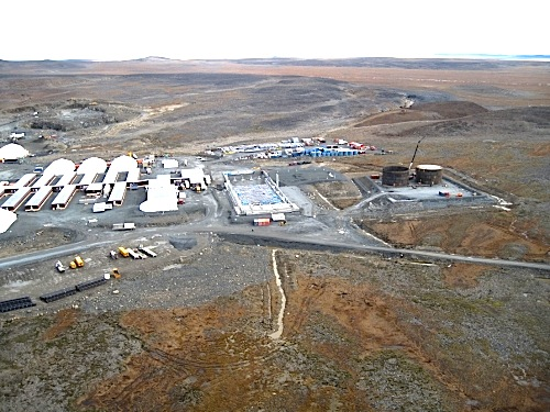 Nunavik Nickel still plans to start operation in late 2012. That's despite a delay in the construction of the mine's port facilities at nearby Deception Bay. (PHOTO COURTESY OF GOLDBROOK VENTURES)