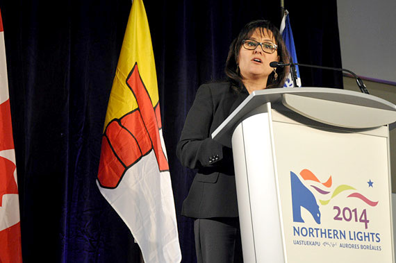 Nunavut MP Leona Aglukkaq spoke at the opening of the Northern Lights business and cultural showcase in Ottawa Feb. 1. The third edition of the northern trade show is evidence of the economic progress being made across the North, Aglukkaq said, while committing her government to helping realize new projects.