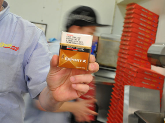 Retailers across Nunavut hiked the price of cigarettes by $1 a pack Feb. 24, to account for the GN's new tobacco tax hike. (PHOTO BY SARAH ROGERS)