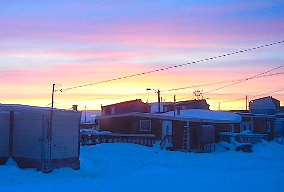 The sun sets in Iqaluit shortly before 7:30 p.m.From 8:30 p.m. to 9:30 p.m. on March 31 many people around the world plan to turn off their lights and observe Earth Hour, a symbolic gesture in the fight against climate change.
