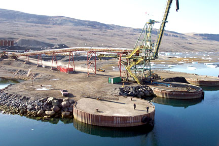 Here's how the old port at Nanisivik looked in 2005. (FILE PHOTO)