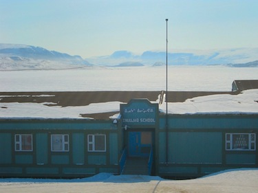 Providing security in Inuujaq School after-hours for the community library was a problem, according to the school principal. (PHOTO BY CLARE KINES)