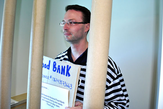 A victim of the Iqaluit RCMP's 2011 Jail-N-Bail fundraiser languishes in detention while he waits for a generous donor to post his bail. (FILE PHOTO)