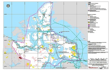 Makivik Corp. is worried about the impact of shipping through the Hudson Strait, as shown here in a map from the final environmental impact statement on Baffinland's Mary River iron mine project.