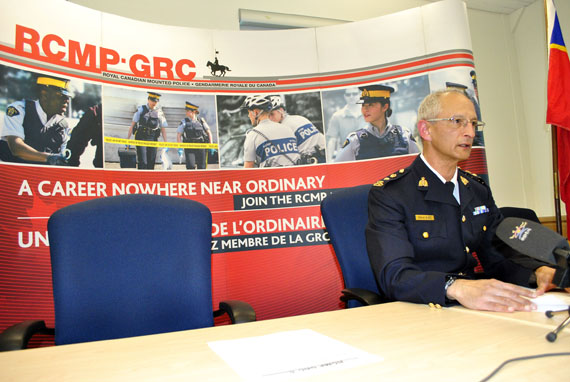 "Supt. Hilton Smee of the Nunavut RCMP: ""I want to stress that the deliberate 'hunting' of our members, shooting their residences and ultimately risking the safety of residents is deeply disturbing."" (PHOTO BY JIM BELL)"