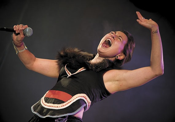 Nunavut's singer, songwriter and performer Tanya Tagaq is up for an award for an Aboriginal Peoples Choice Award as the best aboriginal entertainer of the year. You can vote for her on line at http://aboriginalpeopleschoice.com by Sept. 3. (FILE PHOTO)