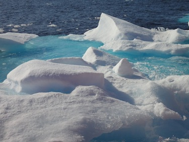 Arctic sea ice extent reached its lowest level in 33 years on Sept. 16. (PHOTO BY JANE GEORGE)