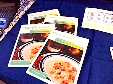 The recipes are offered in all official languages and are available from community health workers and online (PHOTO BY SAMANTHA DAWSON)