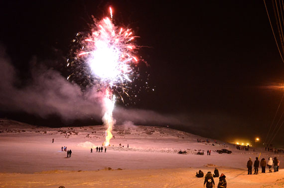 Happy New Year! Iqaluit residents enjoy a fireworks display late in the evening of Dec. 31 as the year 2013 approaches. The first Nunatsiaq News print edition of 2013 will appear Jan. 4 and we will resume our normal schedule Jan. 7. We hope all of our readers and advertisers enjoy a fruitful and rewarding New Year. (PHOTO COURTESY OF AARON WATSON)