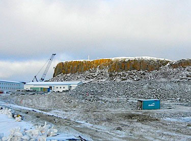 A view of the Doris North mine, part of the Newmont Mining Corp.'s Hope Bay gold project in the Kitikmeot region. This past February, Newmont announced they're putting the Hope Bay project into mothballs, a move that inflicted serious damage on many Kitikmeot businesses. This past December, the firm announced they've signed a letter of intent to sell the property to a privately-held firm called TMAC Resources Inc., which plans to revive the project. Under the proposed deal, Newmont would own shares in TMAC. (FILE PHOTO)