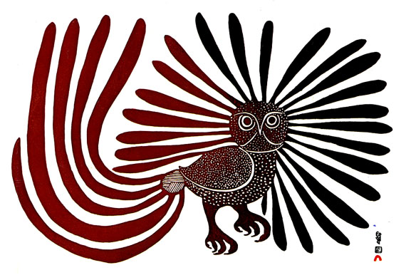 Here's a version of The Enchanted Owl, Kenojuak Ashevak's best-known image, released in 1960. (SUBMITTED IMAGE)