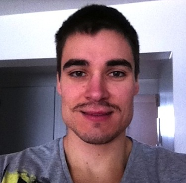 This photo shows Steve Dery, who was killed March 2 at the age of 27, with a mustache he was growing during