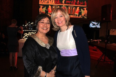 Premier Eva Aariak poses with Laureen Harper, the Prime Minister's wife, at A Taste of the Arctic, a formal gourmet extravaganza of food and entertainment hosted annually in Ottawa by Inuit Tapiriit Kanatami. (PHOTO BY LISA GREGOIRE)