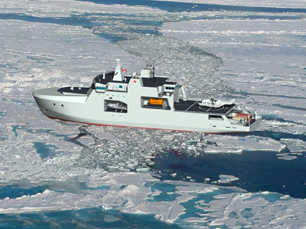 Here's an artist's depiction of an Arctic and offshore patrol ship. (FILE IMAGE)
