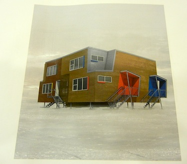 This design by the architectural firm, Fournier Gersovitz Moss Drolet et associés architectes (the same firm that won the design contract for the Canadian High Arctic Research Station in Cambridge Bay), shows what the new one-bedroom apartments to built in Nunavik by Makivik Corp. will look like.