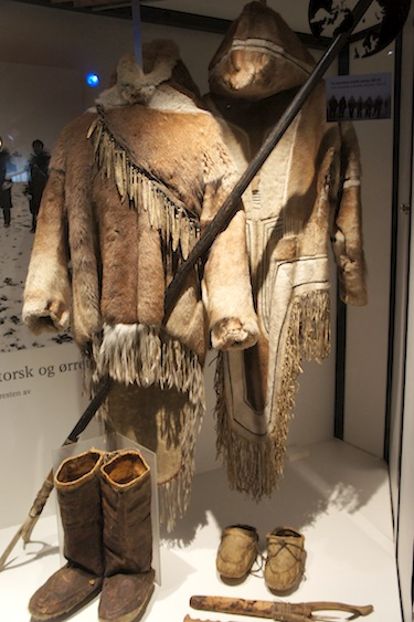 Here's a look at some of the Netsilik clothing, collected by polar explorer Roald Amundsen, on display at the Fram Museum in Oslo, Norway. (PHOTO BY ALEX BOYD)